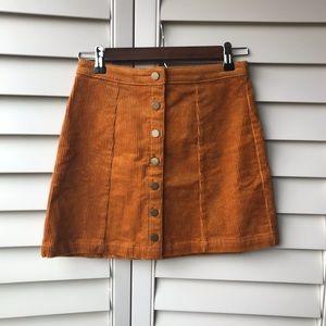 New Corduroy Marigold Skirt Button Down